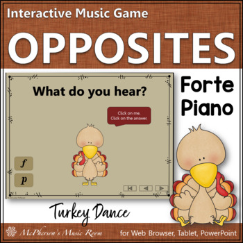 Forte vs Piano - Turkey Dance Interactive Music Game {dynamics}