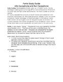 Fortis Study Guide - Alto and Bari Sax