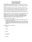 Fortis Study Guide - Tenor Sax