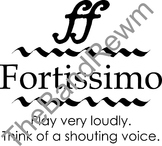Fortissimo Music Poster - Music Room Posters - Dynamics