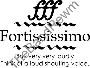 Fortississimo Music Poster - Music Room Posters - Dynamics