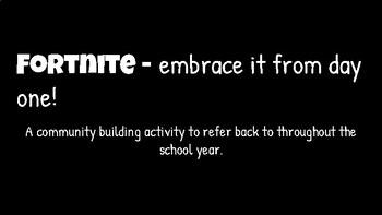 Fortnite Back to School Bulletin Board