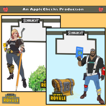 Fortnite Battle Royale (SchoolNight) Binder and Notebook Covers Classroom Decor