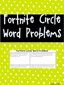 Fortnite Circle Word Problems