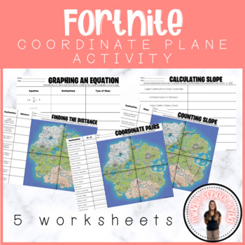 Fortnite Math Coordinate Plane Worksheets Teaching
