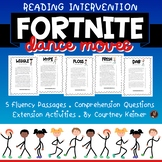 Fortnite Dances Reading Intervention Fluency & Comprehension {6th Grade}