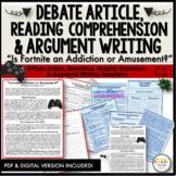 Fortnite Argument Article & Comprehension Questions, Debate
