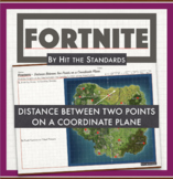 Fortnite -  Distance Between Two Points on a Coordinate Plane