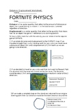 Fortnite Distance and Displacement Worksheet