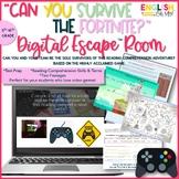 Fortnite Escape Room, Reading Comprehension, Digital Breakout
