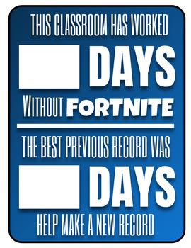Fortnite Free Zone Poster