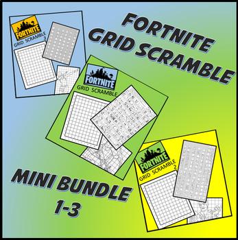 Fortnite Image Scramble #s 1-3 Mini Bundle - Busy / Sub Work
