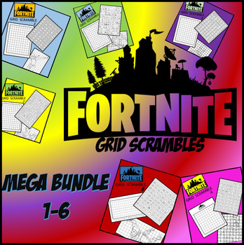 Fortnite Image Scramble #s 1-6 Mega Bundle - Busy / Sub Work