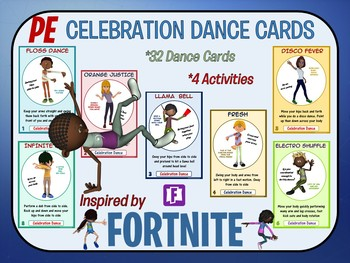 fortnite inspired celebration dance cards 32 dance visuals with activity plans - fortnite dance inspiration