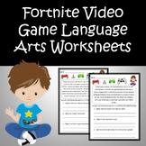Fortnite Language Arts Worksheets