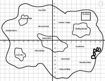 Fortnite Map Coordinate Plane Activity