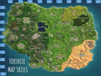 Fortnite Map Skills By Mascara Macchiatos And Map Skills Tpt