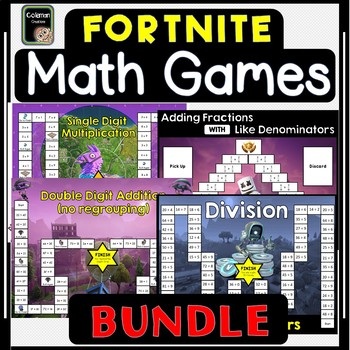 Fortnite Math Board Games Bundle