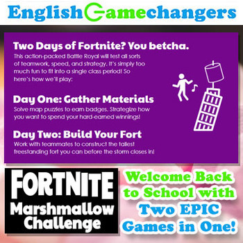 Fortnite Inspired Marshmallow Challenge Growth Mindset Back To