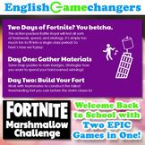 Fortnite-Inspired Marshmallow Challenge: Growth Mindset Back-to-School BUNDLE