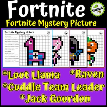 Fortnite Mystery Picture Graphs Pixel Art Math Activities