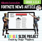 Fortnite News Article - Grade 6 ELA PAT Prep