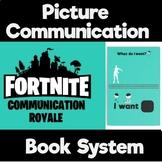 Fortnite Picture Communication Book- PECS, Communication Board Starter Set