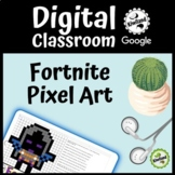 Fortnite Pixel Art #1 Digital Google Classroom Mystery Picture