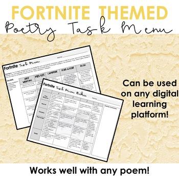 Fortnite Poetry Tasks