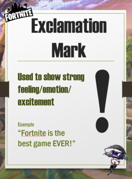 Fortnite Punctuation Posters