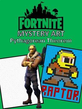 Fortnite Pythagorean Theorem Hidden Pixel Art By Mrs T