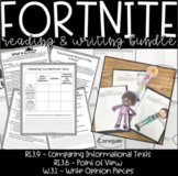 Fortnite Reading & Writing Bundle, Comparing Informational Texts, Point of View