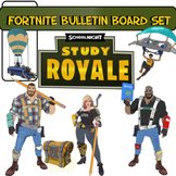Fortnite (SchoolNight) Bulletin Board Set, All Images School Themed!