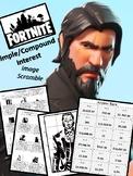 Fortnite Simple / Compound Interest Image Scramble - Financial Literacy