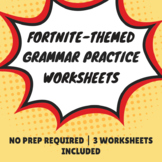 Fortnite-Themed Grammar Practice Worksheets