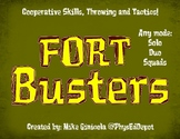 Fort Busters (like Fortnite) Throwing Cooperation Tactics PE Activity