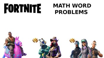 Fortnite Word Problems-Editable