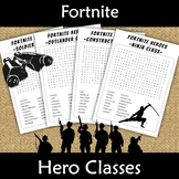 Fortnite Word Search Hero Classes