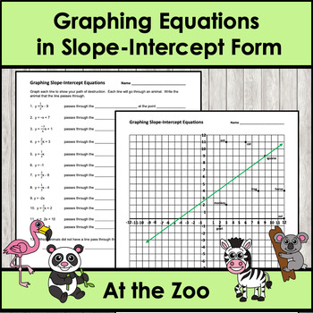 Fortnite at the Zoo - Graphing Slope-Intercept Equations
