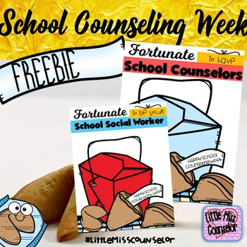 Fortunate to Be Your School Counselor Freebie Poster