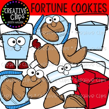 Fortune Cookie Clipart {Creative Clips Clipart}