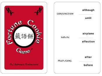 Fortune Cookie Game Four Language Sampler - English, Spani