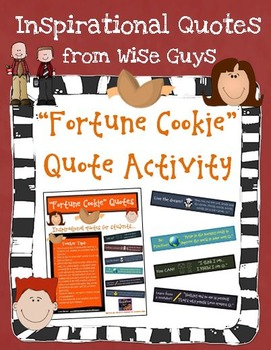 Fortune Cookie Inspirational Quote Activity for Test Prep
