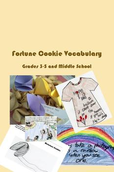 Fortune Cookie Vocabulary - Common Core Practice, Projects