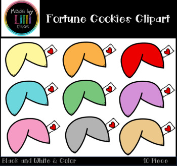 Fortune Cookies Clipart / Chinese New Year