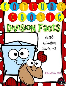 Fortune Cookies Division Facts 1-12 Center Third Fourth Grade