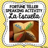 Fortune Teller Speaking Activity for Spanish School Vocabulary (La Escuela)