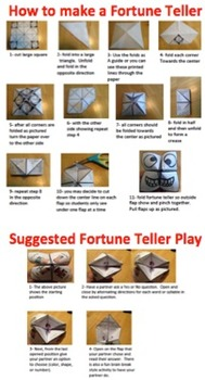 Fortune Teller Bundle for Goal Setting, Ice Breakers and Awards (102 total)