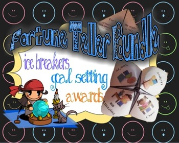 Fortune Teller Bundle for Goal Setting, Ice Breakers and A