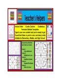 Fortune Teller Cootie Catcher Chatterbox 5 Templates Edita